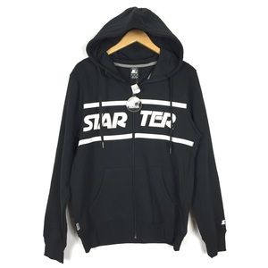 NWT starter spell-out logo size M zip up hoodie